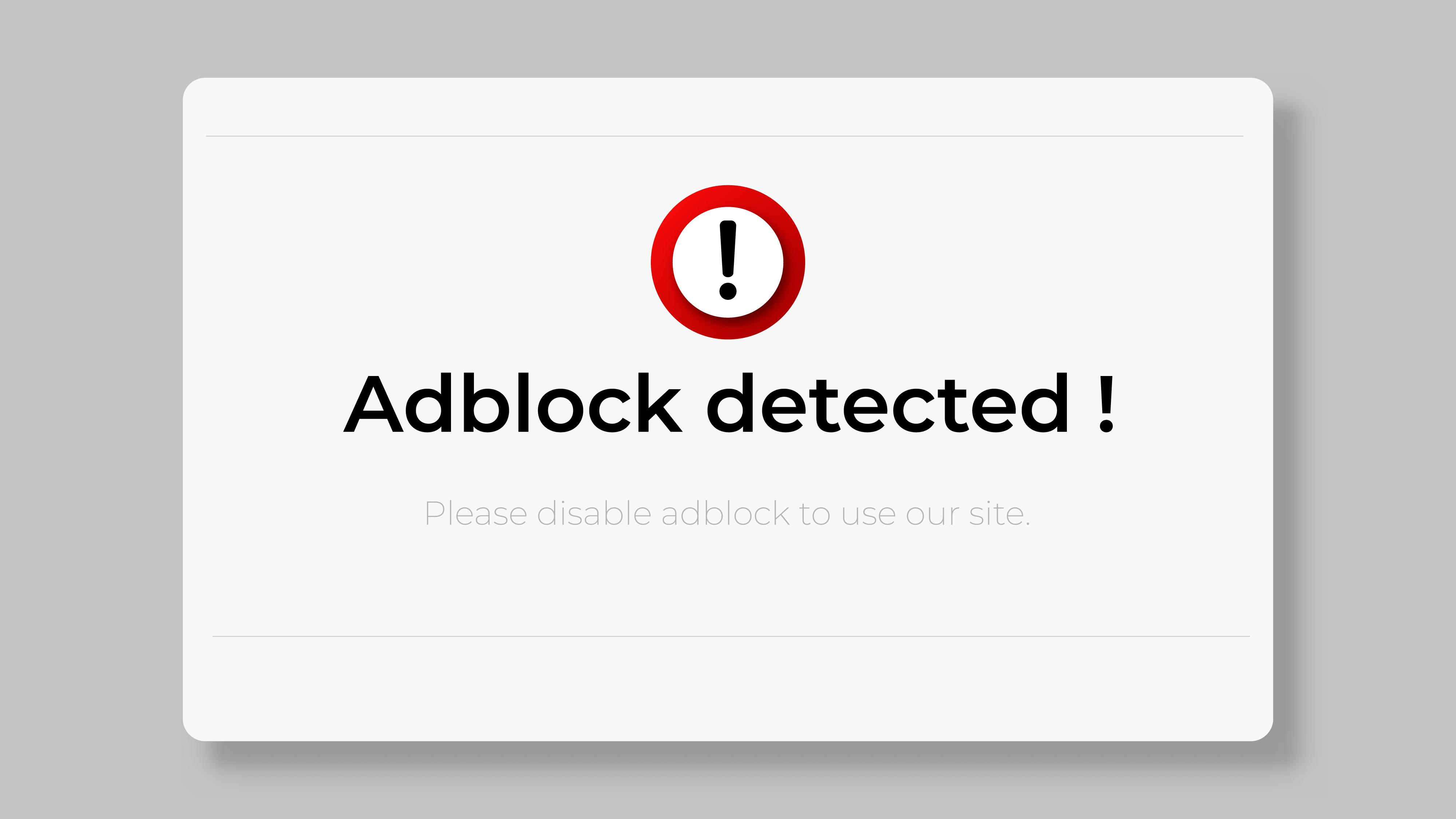 Adblock Detected